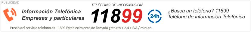 Información Telefónica. Empresas y particulares.Teléfono de información. Banner de publicidad de Telefono.es